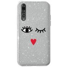 Huawei P20 Pro, Puro Shine Eyes Cover, Silver-1