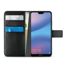 Huawei P20 Puro Milano Wallet flipcover med 3 Kreditkortlommer - Sort-1