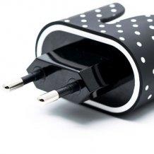 Hurtigoplader med prikker 2 x USB porte 3.4A i-Paint Marble-1