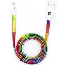 iPhone og iPad opladerkabel med Lightning stik i-Paint Rainbow