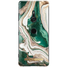 IDEAL FASHION CASE (SONY XZ3 GOLDEN JADE MARBLE)-1