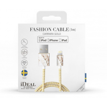 iDeal Fashion Lightning Kabel til iPhone/iPad 1M Carrara Guld-1