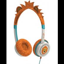 iFrogz Little Rockers hovedtelefoner med lav lyd til børn fra 4 år Orange Løve-1