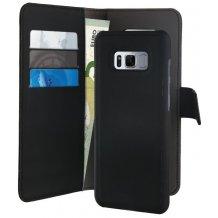 Samsung Galaxy S8 Magnet pung taske og cover 2-i-1 fra Puro Sort
