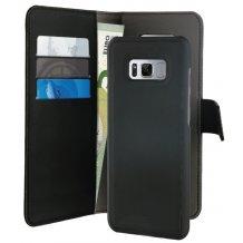 Samsung Galaxy S8+ (Plus) Magnet pung taske og cover 2-i-1 fra Puro Sort