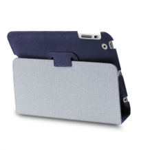 iPad Mini 1, 2 & 3 cover, Puro booklet cover med stander - Blå-1