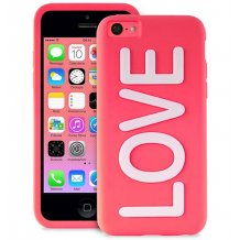 Puro Night Glow Love cover til iPhone SE / 5 / 5S / 5C, Pink