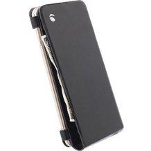 "Apple iPhone 6 Plus (5.5"") flipcover i ægte læder. Krusell Wallet Case Sort"