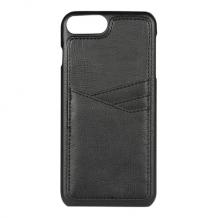 iPhone 8/7/6S Plus, PU Triple Card Cover, Black-1