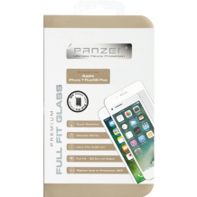 iPhone 8/7/6S Plus (Stor skærm) Panzer Sikkerhedsglas Full-Fit Hvid-1