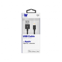 iPhone / iPad Lightning ladekabel 1.5 m Just Wireless Sort-1