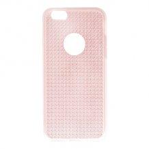 iPhone SE/5S/5, TPU Cover, Transp.Pink w/diam. eff-1