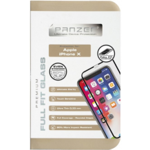 iPhone X Panzer Tempered Glass Full-Fit Sort-1