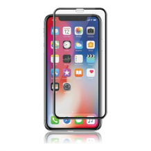 iPhone XS Max, Curved Silicate Glass, Black-1
