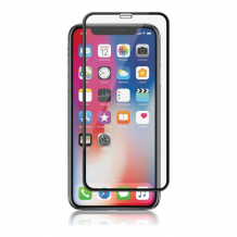 iPhone XS Max, Full-Fit Silicate Glass, Black-1