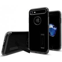 Spigen Slim Armor cover iPhone 7 Jet Black sort/transparent