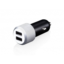 Just Mobile Highway Max - Car Charger with hefty power and duplicate contacts-1