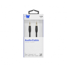 Just Wireless 1.8m Audio Cable in Black-1