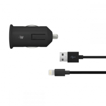 Just Wireless 2.1A Lightning Car Charger in Black-1