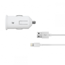 Just Wireless 2.1A Lightning Car Charger in White-1