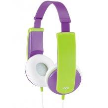 Høretelefoner til børn over 4 år JVC HA-KD5-PE Kids headset, Lilla