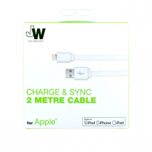 JW JUST WIRELESS - Charge & Sync Lightning Cable - 2m - White-1