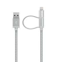 Kanex Premium Lightning + Micro USB Combo 1.2M Cable, Silver-1
