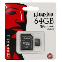 Kingston microSDXC Card 64GB C10 + SD Adapter (not DE)-1