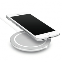 Kompakt trådløs Qi oplader 5W, hvid-1