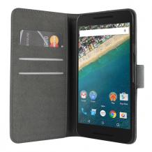 LG Nexus 5X flipcover Redneck Prima Wallet Folio Sort-1