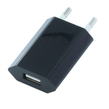 Mains Adapter 1A + Cable Micro USB to USB - Black-1
