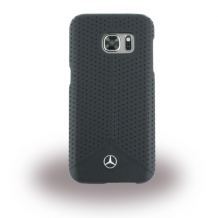 Mercedes-Benz Pure Line - MEHCS7PEBK - Perforated Leather Hard Cover / Hard Case - Samsung G930F Galaxy S7 - Black-1