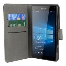 Microsoft Lumia 950/950 XL flipcover Redneck Prima Wallet Folio Sort-1