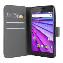 Motorola Moto G 3rd gen flipcover Redneck Prima Wallet Folio Sort-1