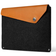 "Mujjo Sleeve 12 ""- Premium Case for MacBook, Black / Brown-1"