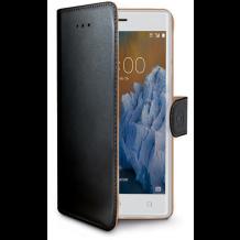 Nokia 3 flipcover Celly Wally Case - Sort-1