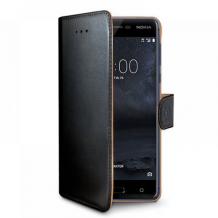 Nokia 7+ flipcover Celly Wally Case - Sort-1