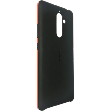 Nokia 7 Plus Soft Touch Case Black/Orange CC-506-1