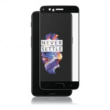 OnePlus 5 (2017) Panzer Tempered Glass Full-Fit Sort-1