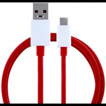 OnePlus USB-C hurtiglader-kabel 1 Meter, Rød-1