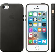 Original Apple iPhone SE / 5 / 5S Leather Case MMHH2ZM Sort-1