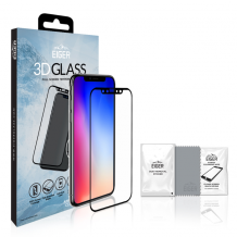 Panserglas til Apple iPhone X/XS - Eiger 3D Glass Gennemsigtig, Sort-1
