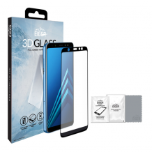 Panserglas til Samsung Galaxy A6 (2018) - Eiger 3D Glass Gennemsigtig, Sort-1