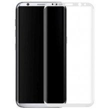 Panserglas til Samsung Galaxy S8+ (Plus) Skærmbeskytter Hvid Ramme