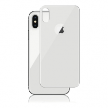 Panzer Full Fit silikatglas bagside til iPhone X - Sølv-1