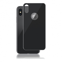 Panzer Full Fit silikatglas bagside til iPhone X - Space Grey / Sort-1