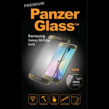 Panzer Glass Sikkerhedsglas med buet ramme til Samsung Galaxy S6 Edge, Guld-1