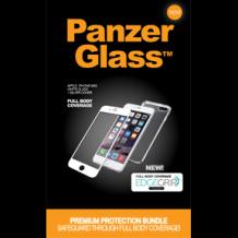 Panzer Glass Sikkerhedsglas Premium iPhone 6/6S/7/8 -Hvid med Sølv Edge Grip Cover-1