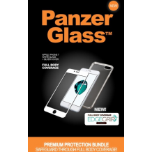 Panzer Glass Sikkerhedsglas Premium iPhone 7 - Hvid med Sølv Edge Grip Cover-1