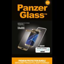 Panzer Glass Sikkerhedsglas Premium Samsung S7 Edge Guld med Clear Cover-1